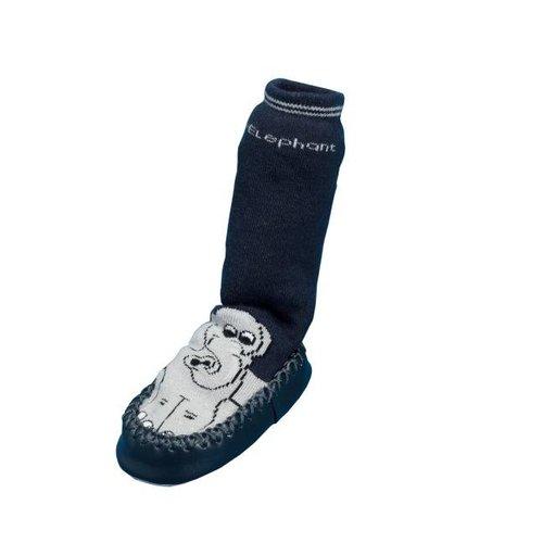 Playshoes Lederen Anti-slip slofsokjes (olifant) maatje 17/18