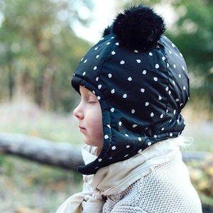 Elodie (vroeger: Elodie Details) Vliegeniersmuts - Cap Black Dots 6-12 mnd