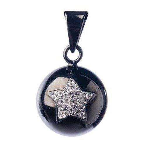 Babylonia Bola Zwart met zilveren glitter ster