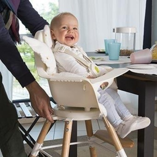 ChildHome High chair kinderstoel Evolu one.80° Naturel/wit