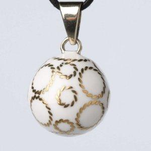 Babylonia Bola bollen wit zilveren bollen