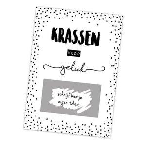 Hippe Kaartjes Kraskaart - DIY - Krassen voor geluk