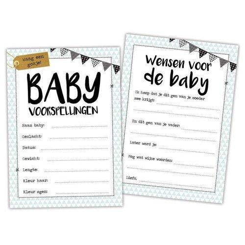 Hippe Kaartjes Baby invulkaartjes voor babyshower
