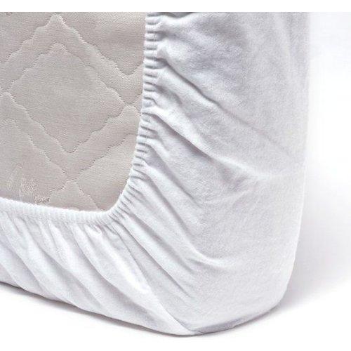 Flanellen Molton Matrashoes 40x80 cm - Wit hoeslaken