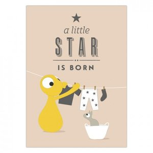Olli+Jeujeu Ansichtkaart Wenskaart - A star is Born