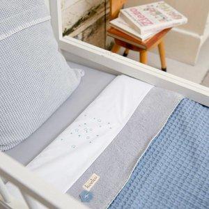 Koeka Winter deken wafel teddy Oslo Lichtblauw/zilvergrijs