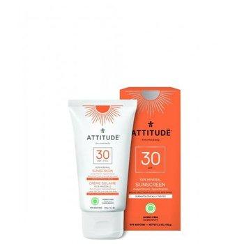 Attitude Zonnecreme Factor 30 - 100% Ecologisch Orange blossom  - 150 ml