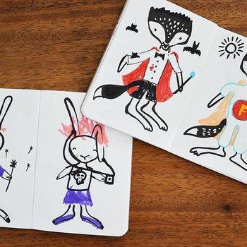 Wee Gallery 32 ways to dress a Fox, creatief kleurboek
