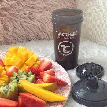 Twistshake Fruitmix Drinkbeker - crawler cup grey - 300 ml