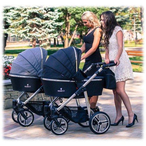 Venicci Silver Denim Grey - Zeer Complete Kinderwagen -