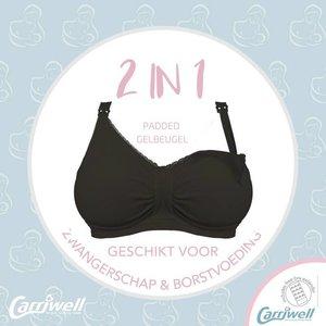Carriwell Padded Support Voedingsbh met Gelbeugel® Zwart