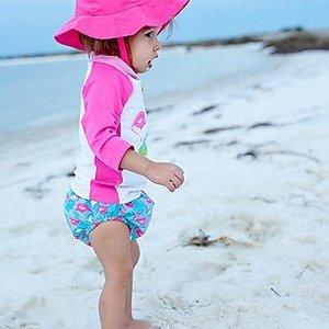 Zoocchini Zwemluier & zonnehoedje Flamingo - 3-6 mnd