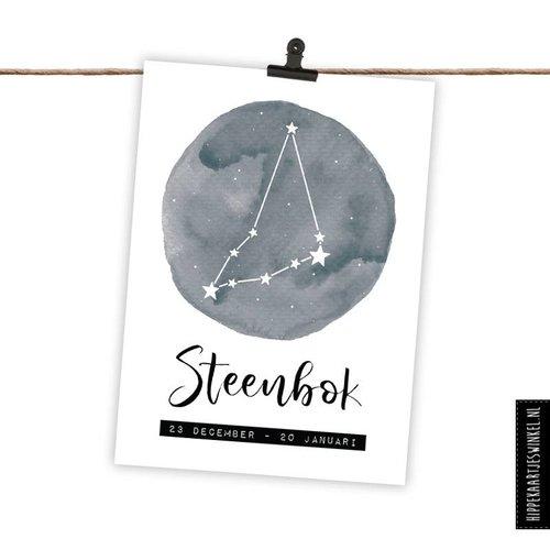 Hippe Kaartjes Sterrenbeeld kaart - Steenbok