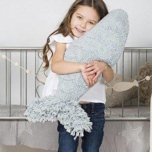 Lorena Canals Big Fish - Wasbaar Katoenen Sierkussen - Aqua