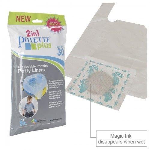 Potette Plus 30 biologisch afbreekbare wegwerpzakjes voor de Potette  met magic inkt