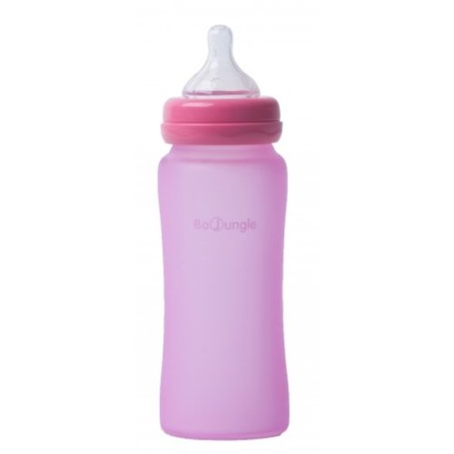 BoJungle B-Thermo bottle Silicone Glas 300 ml - Pink