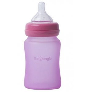 BoJungle B-Thermo bottle Silicone Glas 150 ml - Pink