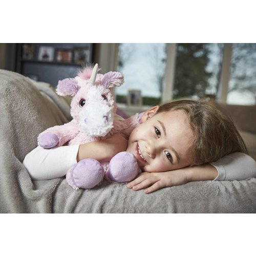 Warmies Pink Unicorn - warmtekussen lavendel