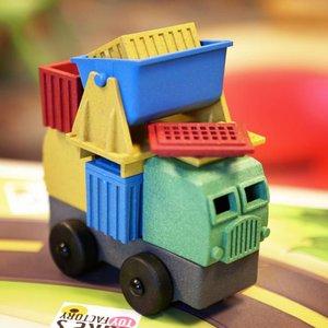 Luke's Factory 4 puzzel-vrachtwagens in een set