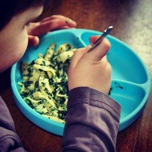 MiniKOiOi Vakjes Bord met Zuignap - Groen