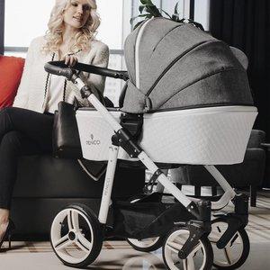 Venicci Pure White-Denim Grey - Zeer Complete Kinderwagen