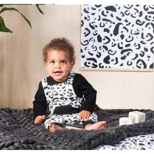 Jollein Salopette Leopard black & white