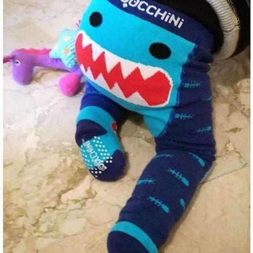 Zoocchini Crawler Shark - Baby legging met kruipknietjes en losse sokjes