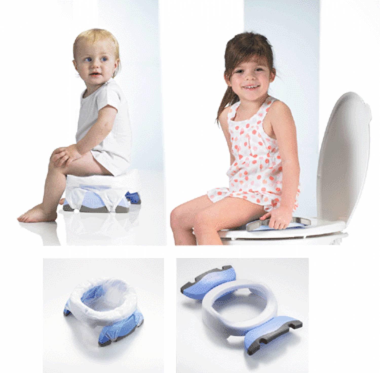 Potje En Wc Verkleiner.Potette Plus Opvouwbaar Potje Voor Thuis En Onderweg En Toiletverkleiner 2 In 1
