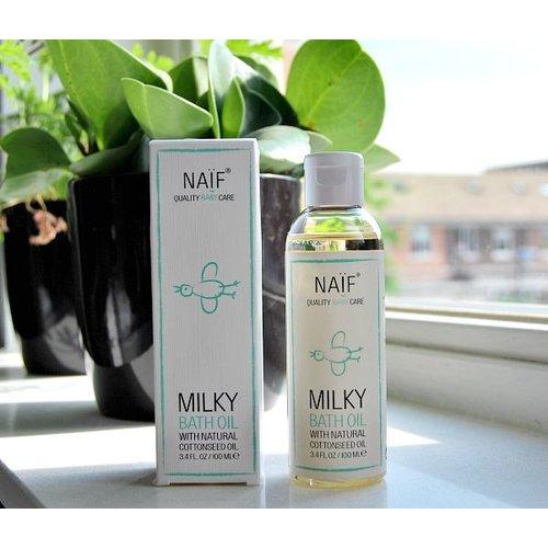 NAÏF Milky bath Oil - oplosbare milky badolie