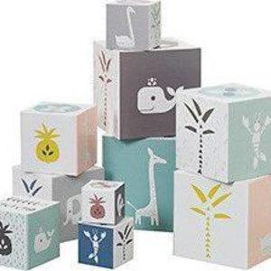 Fresk 10 stuks blokken - Blokkendoos Swan