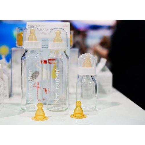 Natursutten Natursutten set van twee glazen drinkflessen - 120 ml