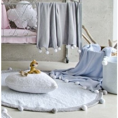 Lorena Canals Bubbly Light Grey Deken