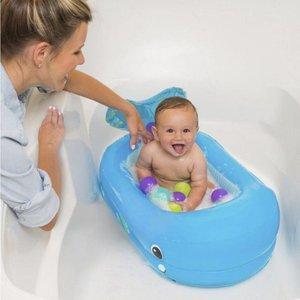 Infantino Whale Bubble Opblaasbaar Babybadje