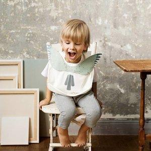 Elodie  Baby Bibs Watercolor Wings luxe slabbe met gootje en luxe hanger