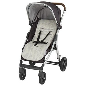 CuddleCo Memoryfoam Buggy inlegger - Feathers grey