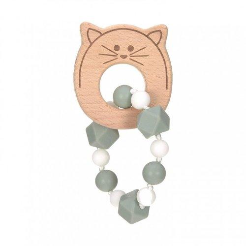 Lässig Bijtspeeltje Little Chums armband Kat groen/ blauw