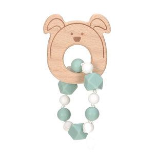 Lässig Bijtspeeltje Little Chums armband Hond blauw