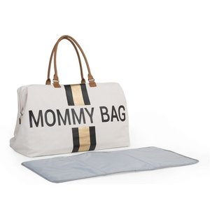 Childwood Verzorgingstas Mommy Bag White Stripes Black/Gold