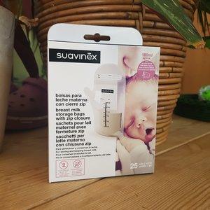Suavinex Dubbelwandige bewaarzakjes voor borstvoeding - 25 stuks