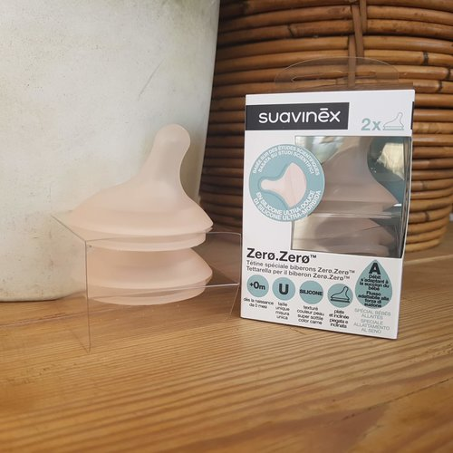 Suavinex Zero Adaptable Flow 2 stuks Flesspenen