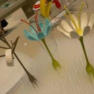 Boon Bloem aqua accessoire voor je boon Trendy afdruiprekje - Boon Stem aqua