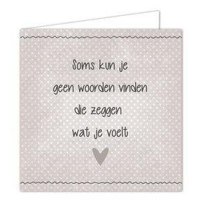 Hippe Kaartjes Ansichtkaart Wenskaart - Woorden