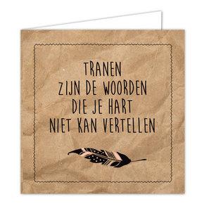 Hippe Kaartjes Ansichtkaart Wenskaart - Tranen