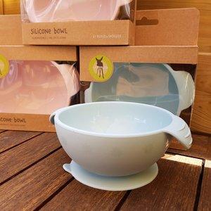 Lässig Siliconen bowl met grote zuignap  - Blauw