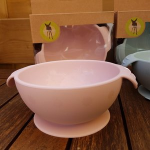 Lässig Siliconen bowl met grote zuignap  - Roze