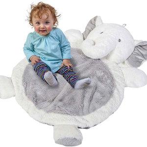 Mary Meyer Speeldeken / Knuffeldeken  / babymat - Olifant grijs