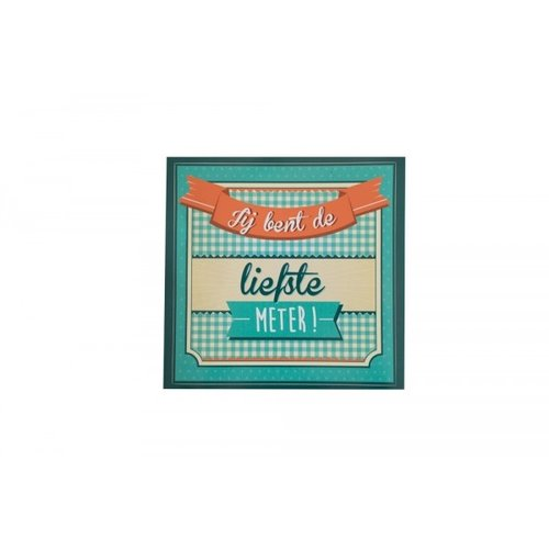 Minimou Wijnetiket Sticker - Wil je mijn meter worden? Retro
