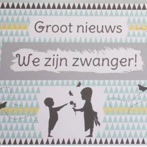 Kraskaart - We zijn Zwanger! Nordic silhouette