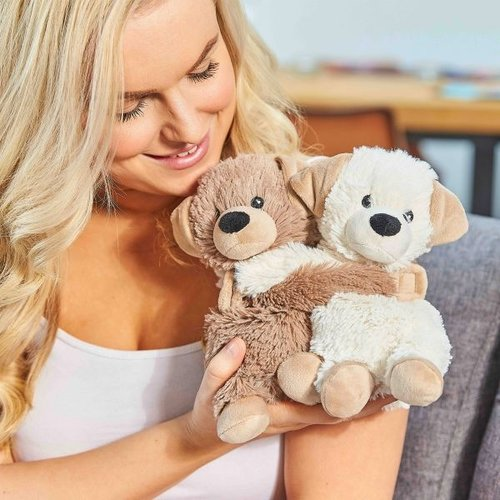 Warmies Hugs Puppies - twee warmteknuffel vriendjes