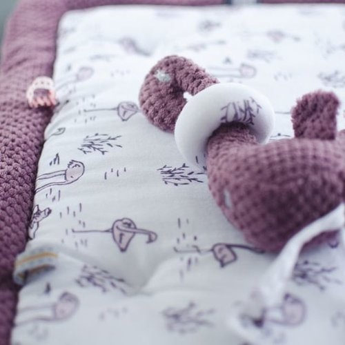 Snoozebaby Fay Flamingo Soft Mauve - Knuffelpopje